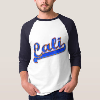 Cali Logo Blue Wave Yellow Outline T-shirt