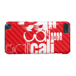 Cali; Scarlet Red Stripes iPod Touch (5th Generation) Covers