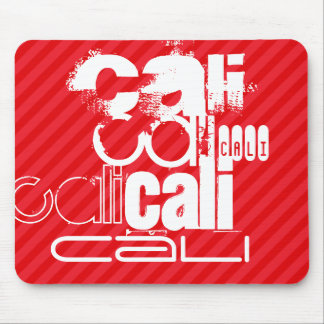 Cali; Scarlet Red Stripes Mouse Pad