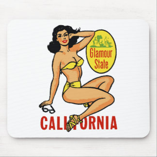 Cali Sitting Pinup Mouse Pad
