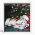 Cali the Calico Christmas Cat Binders
