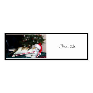 Cali the Calico Christmas Cat Business Card