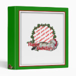 Cali the Calico Christmas Cat Photo Frame Vinyl Binders