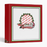 Cali the Calico Christmas Cat Photo Frame 3 Ring Binder