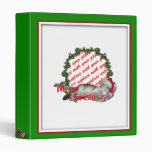 Cali the Calico Christmas Cat Photo Frame 3 Ring Binders