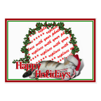 Cali the Calico Christmas Cat Photo Frame Business Card