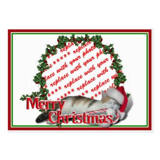 Cali the Calico Christmas Cat Photo Frame Business Cards