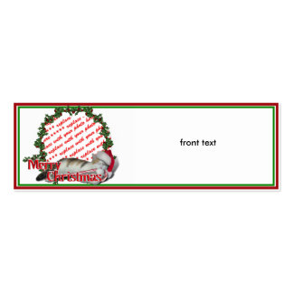 Cali the Calico Christmas Cat Photo Frame Business Card Template