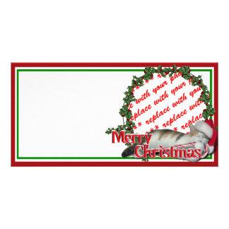 Cali the Calico Christmas Cat Photo Frame Photo Greeting Card