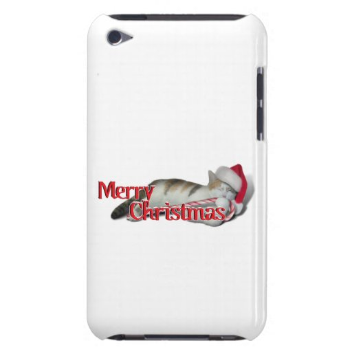 Cali, the Candy Cane Kitty Barely There iPod Cases