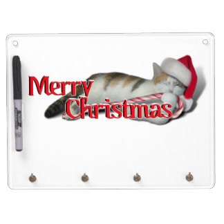 Cali, the Candy Cane Kitty Dry Erase Boards