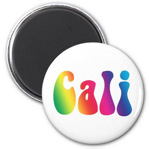 Cali Tie-Dye California Hippie Logo Fridge Magnet
