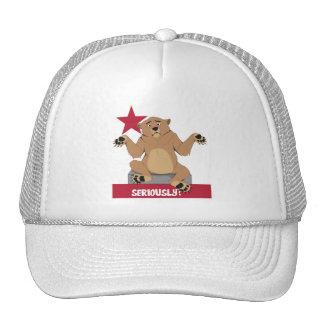 CaliBear, Shrugging Seriously? Hats