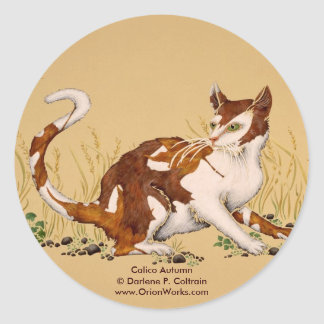 Calico Autum, Calico Autumn Darlene P. Coltrai... Classic Round Sticker
