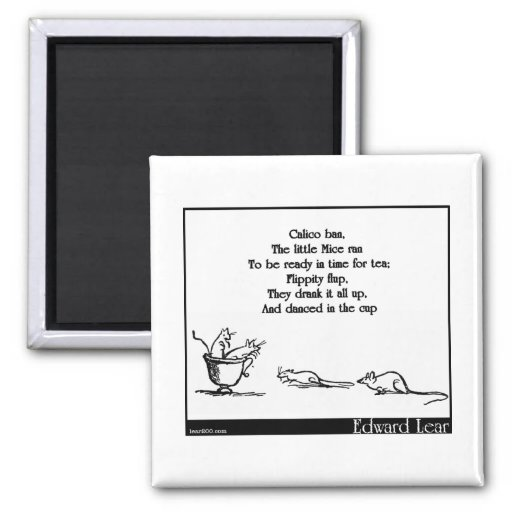 Calico Ban 2 Inch Square Magnet