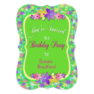 Calico Birthday Party Invitation - Personalize