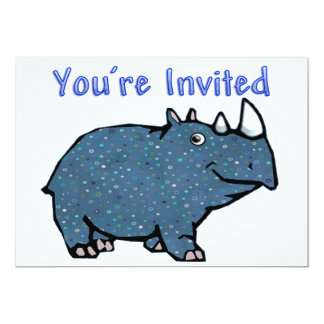 Calico Blue Rhino Invitation
