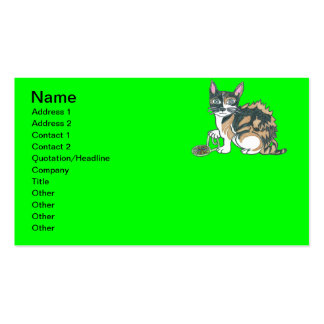 Calico Callie on the prowl. Business Card Template