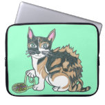 Calico Callie on the prowl Laptop Sleeves