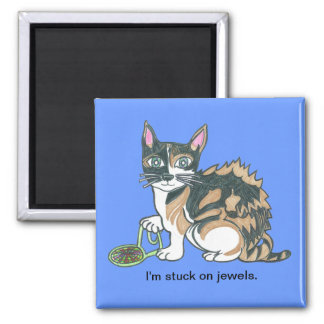 Calico Callie on the prowl. Fridge Magnet