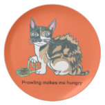 Calico Callie on the prowl. Party Plates