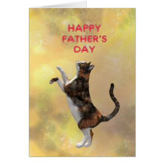 Calico cat and Father's day Card