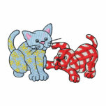 Calico Cat and Gingham Dog Embroidered Hooded Sweatshirts