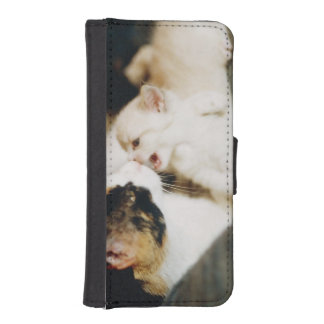 CALICO CAT AND WHITE KITTY PHONE WALLET CASES