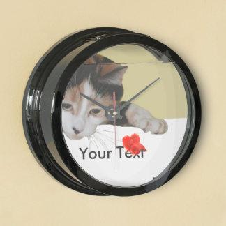 Calico Cat Aquarium Clocks
