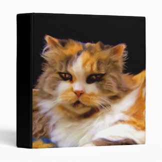 Calico cat art binder