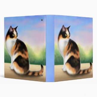Calico Cat at Sunset Avery Binder