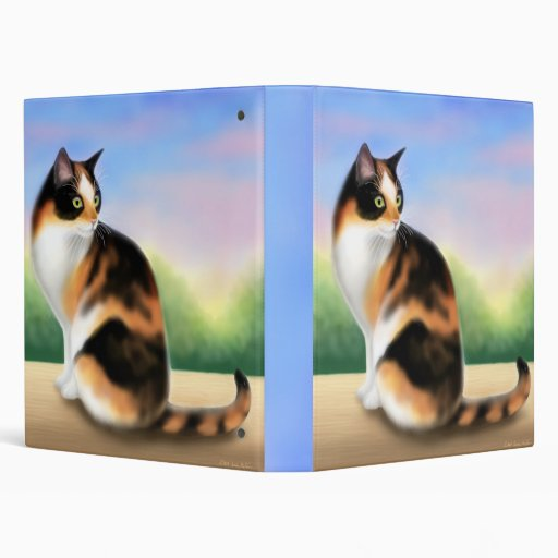 Calico Cat at Sunset Avery Binder
