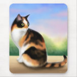 Calico Cat at Sunset Mousepad