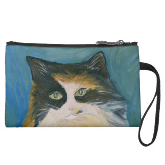 Calico Cat Bagettes Bag Wristlet Purse