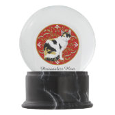 Calico Cat Baroque Snow Globes