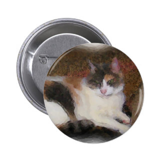 Calico Cat Pinback Buttons