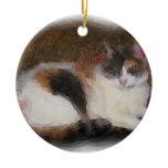 Calico Cat Christmas Ornament