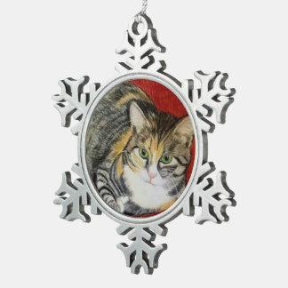 Calico Cat Christmas Ornament by Carol Zeock