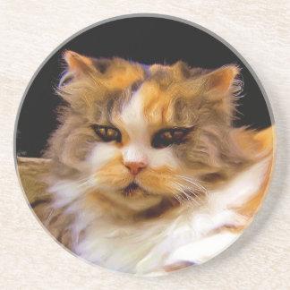 Calico cat coaster