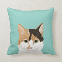 Calico Cat - Customizable cat gifts home decor pet Throw Pillow
