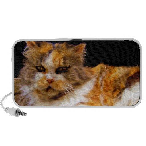 Calico cat doodle speaker