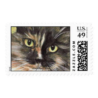 Calico Cat Face Stamps