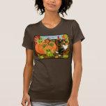 Calico Cat Fairy Cats Leaves Fall Autumn Art Shirt