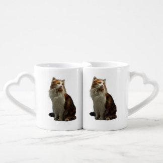 Calico Cat Fractal Coffee Mug Set