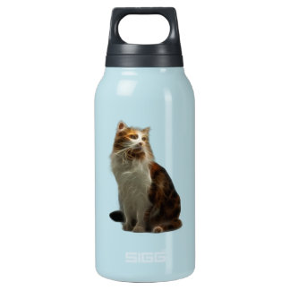 Calico Cat Fractal Insulated Water Bottle