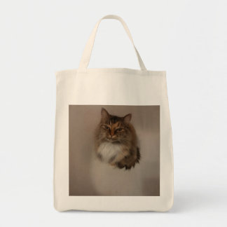 Calico Cat Grocery Tote Bag
