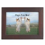 Calico Cat High Five Keepsake Boxes