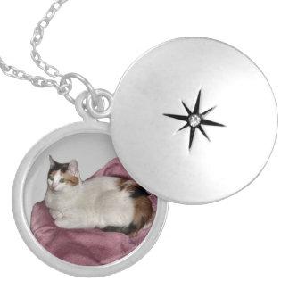 Calico Cat Locket Necklace