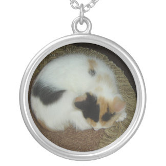 Calico Cat Nap Silver Plated Necklace