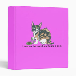 Calico Cat on the prowl Binder